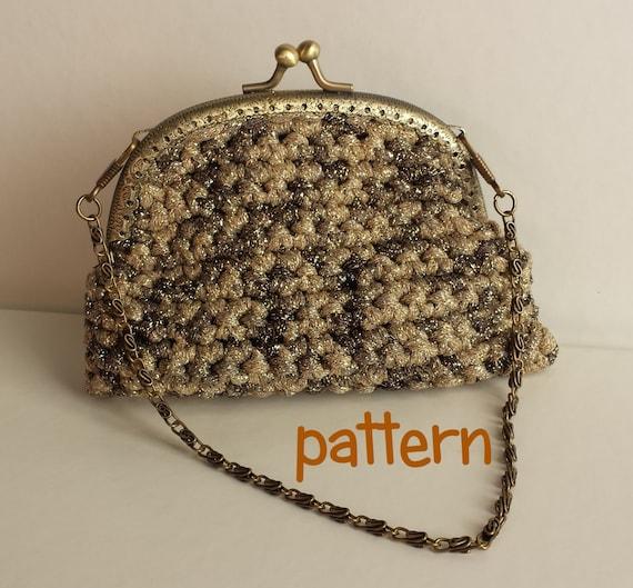 Crochet Evening Purse Pattern. PDF 045.