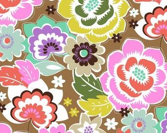Maisie Floral Caramel - Maude Asbury -  Blend Fabrics. 1/2 Yard Cut