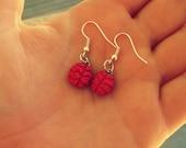 Cute Brain Earrings. Dangle Earrings. Fish Hook Earrings