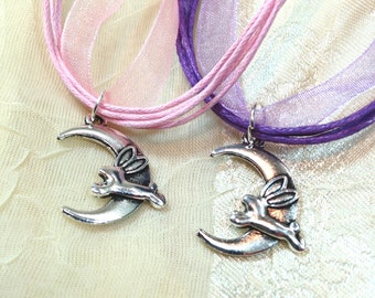 Moon Bunny Necklaces - The Bunny Jumped Over the Moon!