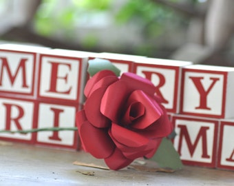 Red Paper Flower-Christmas Flower