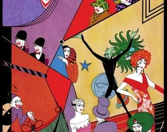 Art Deco Theatre poster print