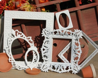 Ornate Vintage Picture Frames - Shabby Chic White Picture Frames - Gallery Frames