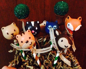 Woodland creatures Themed Cake Pops