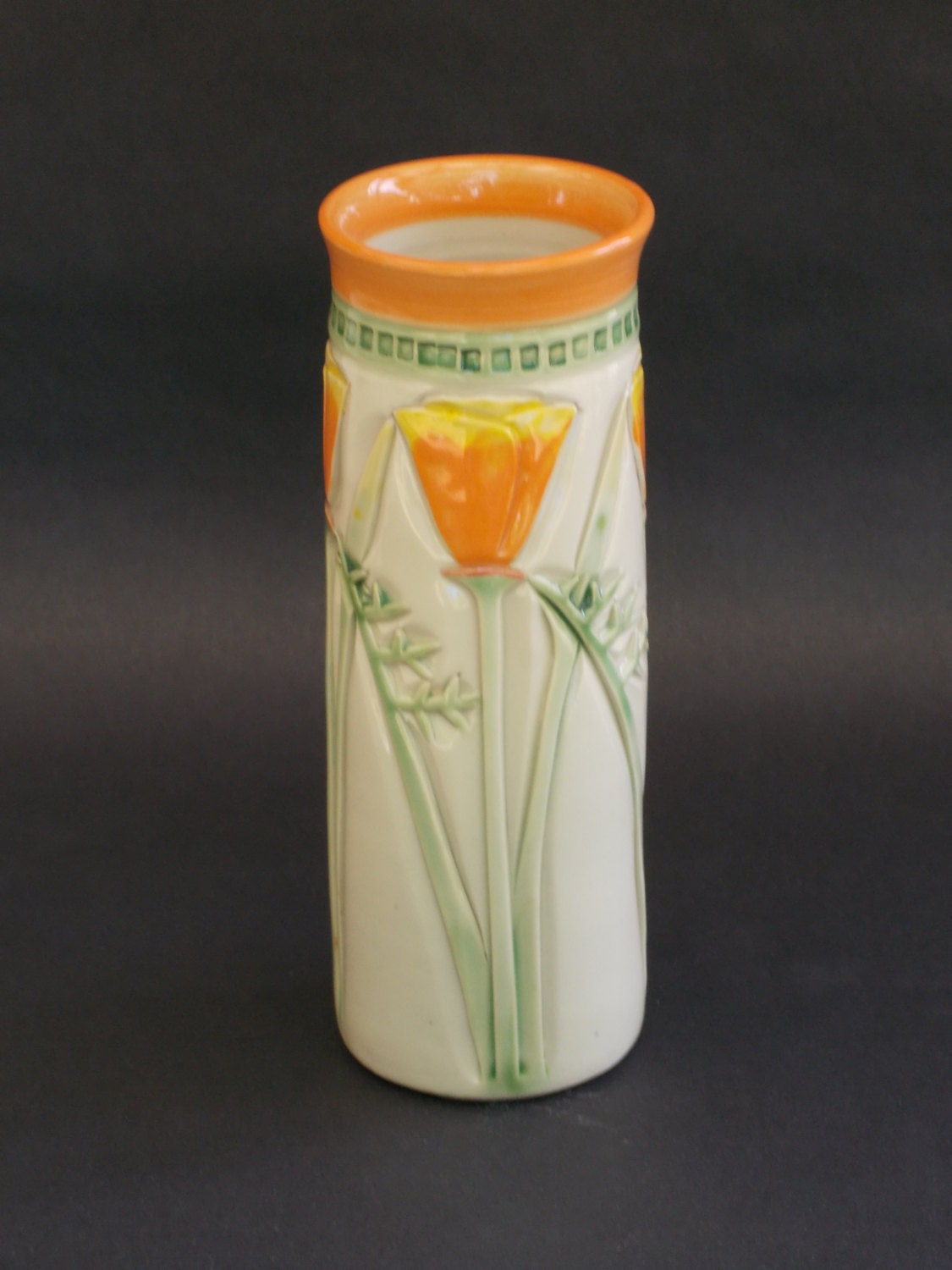Arts and Crafts Mission Style California Poppy by CindySearles - photo#14