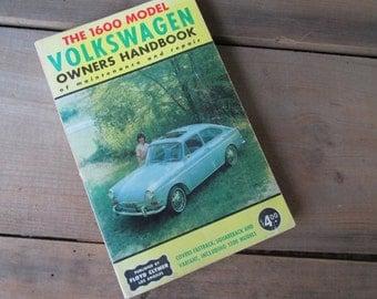 Volkswagen Owners Vintage Handbook VW 1600 Model Floyd Clymer 1960s Models