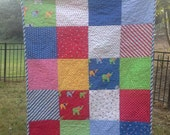 Celebration by Bunny Hill Designs & Moda Fabrics: Bright Colors for Boy Crib, Toddler, Play Mat, Lap Quilt or Cot with Designer Fabrics