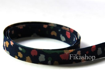 3 yards 1/2 inch 12mm Double Sided Multi Color Cloud in Blue Poly Ribbon (KR0024) - Fikashop