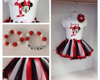 Minnie Mouse Satin Ribbon Trimmed Tutu