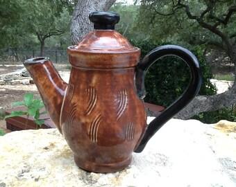 Teapot, Shino Glazed Stoneware