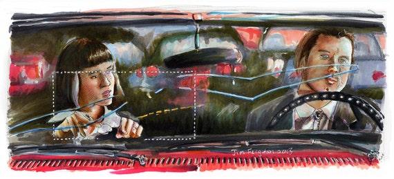 Pulp Fiction - Don't Be a Square Mini Poster Print