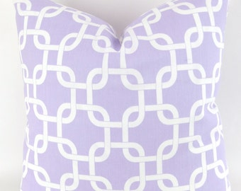 Lavender Chain Pillow cover -MANY SIZES- gotcha purple wisteria white geometric rope knot throw cushion euro sham Premier Prints 28 22 18 24