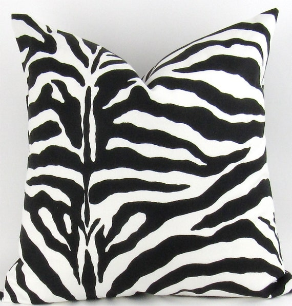 Zebra Floor Pillow Cover 28x28 inch Animal by DeliciousPillows