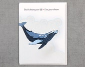 Live your Dream Humpback Whale Card