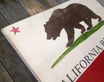 California Flag ~Wooden