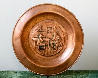 Italian decorative copper plate