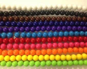 12mm round acrylic gumball beads,chunky, 30 beads