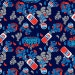 Camelot Licensed Pepsi Collection by Camelot Design Studio Soda Splash in Navy by the Yard