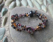 Detox Bracelet Crystal Healing - Yoga Crystals - Release Your Negativity as you Wear It - with Black Onyx Tiger's Eye Garnet  - by Jelila