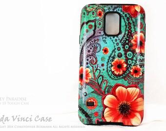 Paisley Samsung Galaxy S5 Case - Floral S5 Case - Paisley Paradise - Premium Case by Da Vinci Case