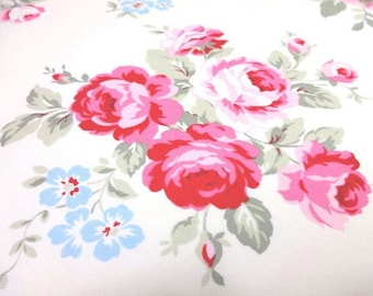 SALE Japanese Fabric LECIEN Flower Sugar maison Rose Offwhite Fat Quarter