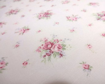 Japanese Fabric YUWA Flower Rose Pink FQ(C08)