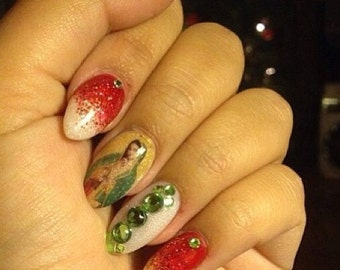 Virgin of Guadalupe Mexican Nail Decals