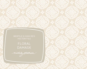 Blog or web background pattern VECTOR and PSD Floral Damask web tile & high resolution digital paper seamless repeating web tile
