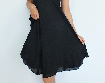 Beautiful  Black  Maxi Dress Cotton