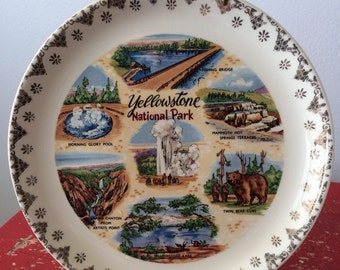 Vintage Yellowstone Plate