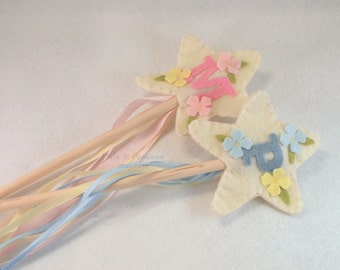 Felt Wand, Personalized Wand, Magic Wand, Easter, Spring, Fairy Wand, Flower Girl