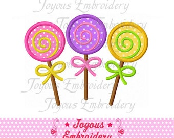 Instant Download  Three Lollipops Applique Embroidery Design NO:1516