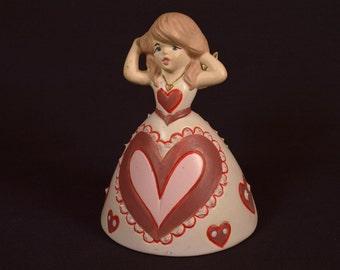 Ceramic Valentine Bell Heart Bell Angel Bell Girl Bell