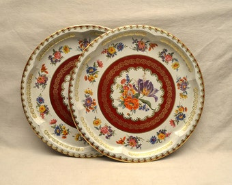 Serving Tray Trays Floral Flowers Daher England Flower