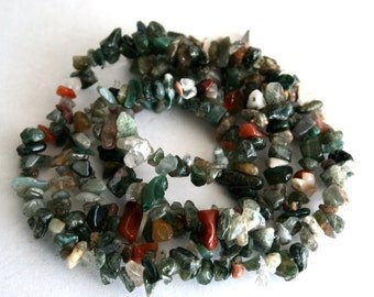 35 inch Strand of Lovely Agate Chip Beads