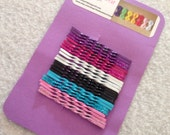 24 Bobby pins, colors, glitter and plain