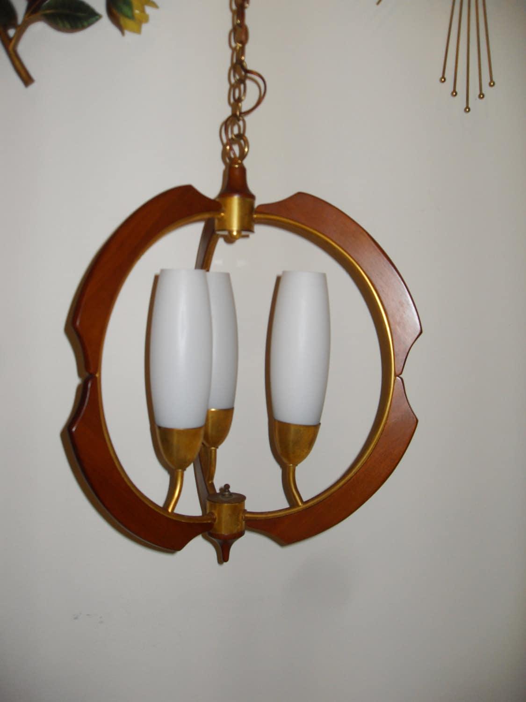 vintage mid century hanging swag lamp. Black Bedroom Furniture Sets. Home Design Ideas