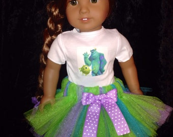 American Girl Doll Monster's Inc Tutu  Great for Bitty Baby