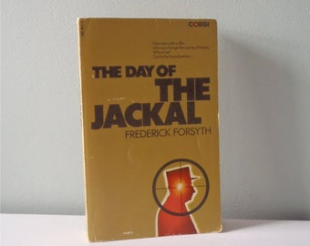 Vintage Corgi book The Day of the Jackal Frederick Forsythe book 70s