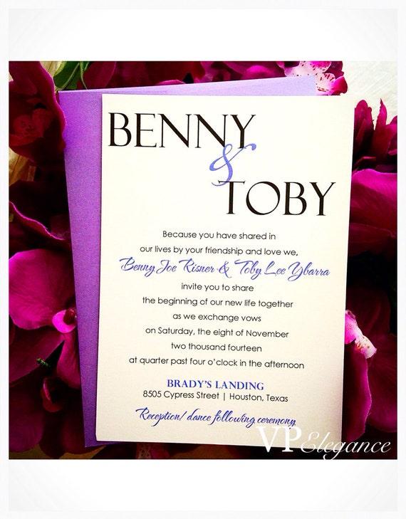 Items similar to wedding invitation purple wedding for Etsy owl wedding invitations
