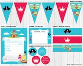 Princess and Pirate Printable Party Pack // Digital files to print