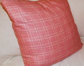 pink tween plaid pillow