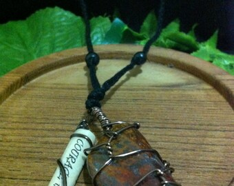 Tiger's Eye Courage Charm Necklace