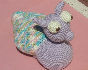 Crochet Snail, Purple Snail, Handmade Toy, Amigurumi Snail, Nursery Decor, KidsToy, Ready to Ship, Nurssery Decor, Stuffed Snail, Plushes