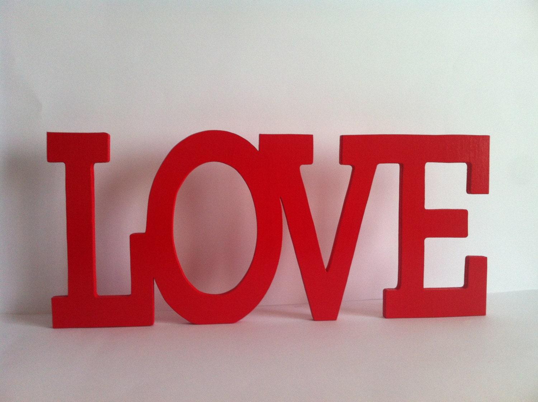 Wooden Letters Love 10 Custom By Planetasierra On Etsy