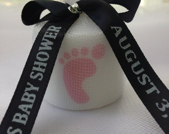 25 Baby Shower Favors, Baby Footprint  Shower, Its a Girl Favors,Its a boy, Bridal Shower, Baptism , Holy Communition Favors