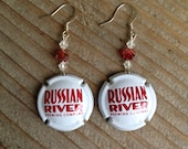 Russian River Beer Bottle Cap Earrings
