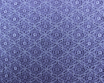 56 X 63 Lavender Lace Fabric Remnant