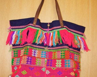 SALE Pakpao Handbag Hill Tribe Fabric Tote