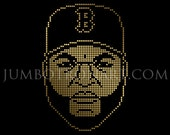 David Ortiz, Big Papi, Jumbotron Art - Limited Edition Gold Foil Print, 12 x12